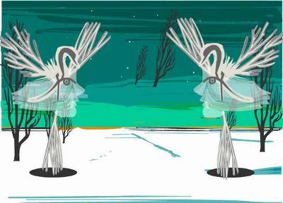 这种版画风格的动画非常适合 flash 来表现,粗犷的不规则线条,夸张