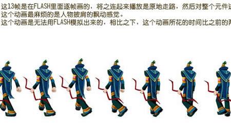 flash背书包行走走路的小孩源文件
