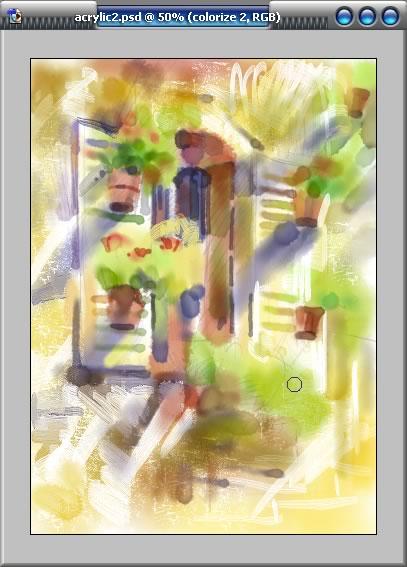 数字丙烯画风景教程