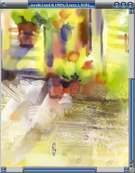 intuos2 数字丙烯画风景教程