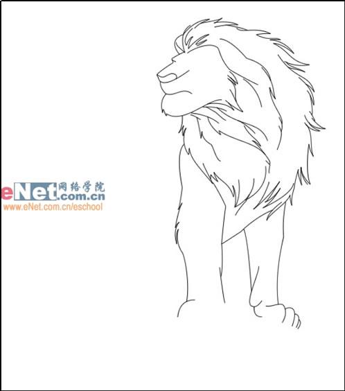 首页 cg绘画 手绘教程 > 鼠绘迪士尼卡通角色狮子王  10,为了不让狮子