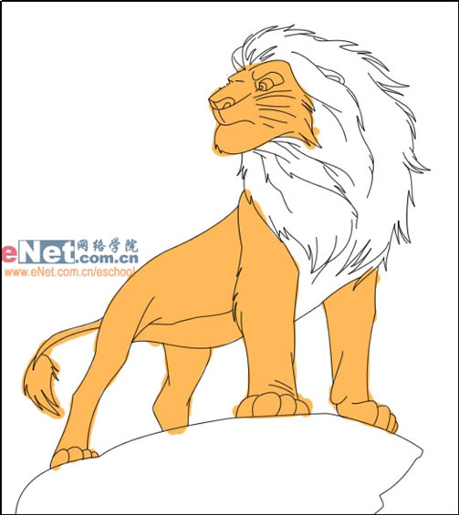 鼠绘迪士尼卡通角色狮子王 - 手绘教程 - 蓝色理想