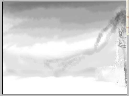 Photoshop 水墨画作品欣赏 - 狗尾巴 - 优品设计