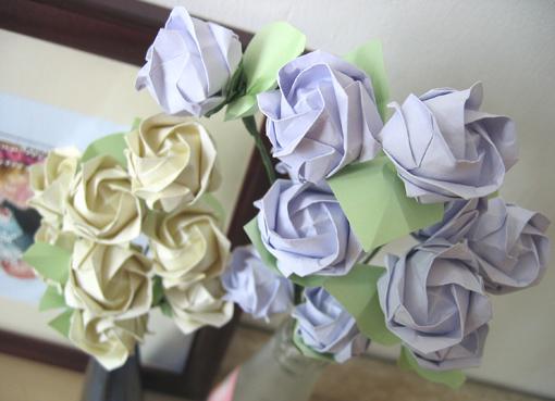 教你手工折叠纸玫瑰 Ⅱ