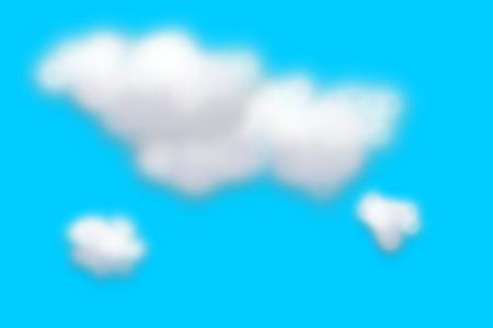 云彩剪纸矢量图形