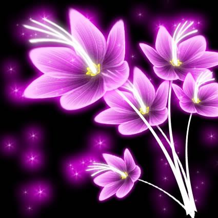 Photoshop中打造绚丽花朵