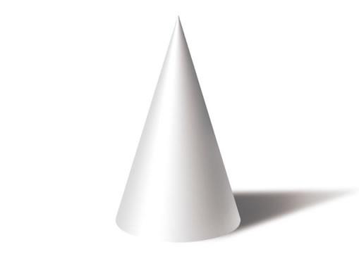 图2.1-37圆锥体绘制完成的效果