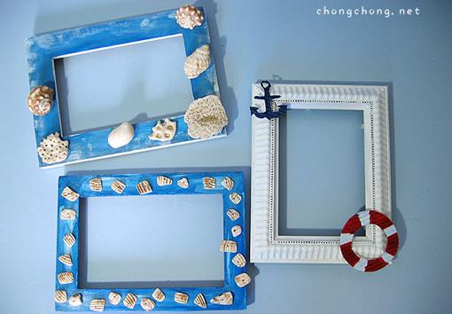手工制作海洋相框