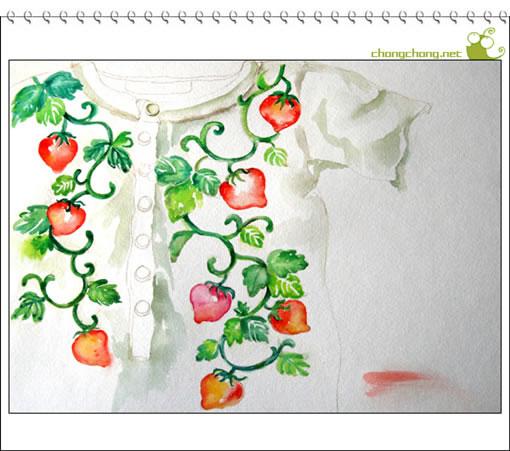 虫虫手绘教程:一衣草莓
