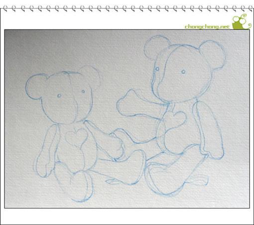 虫虫手绘教程:鸡蛋花花的熊