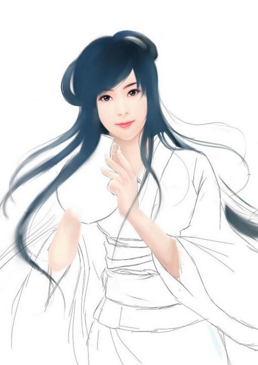 《古典写实美女》漫画教程 - 手绘教程 - 蓝色理想