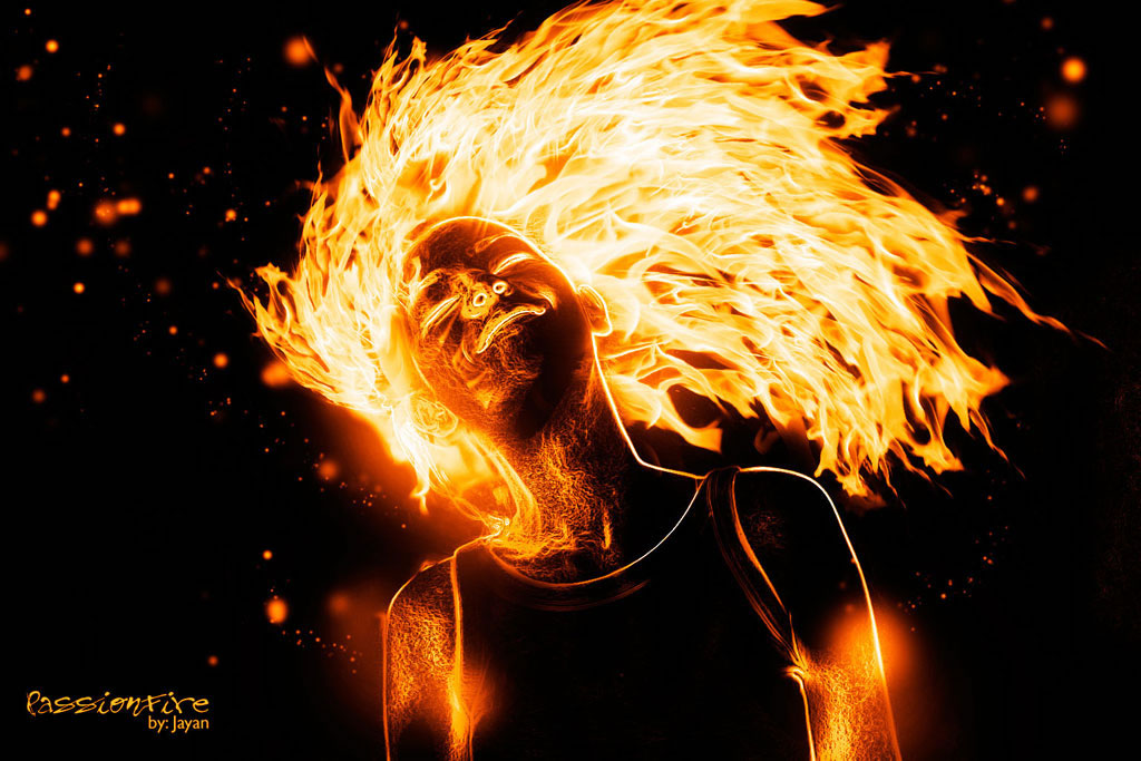 photoshop打造火焰人效果