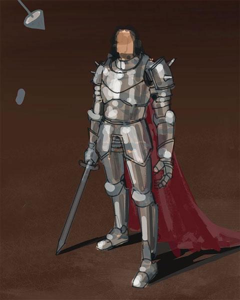 中世纪风格人物设计过程 - 手绘教程 - 蓝色理想