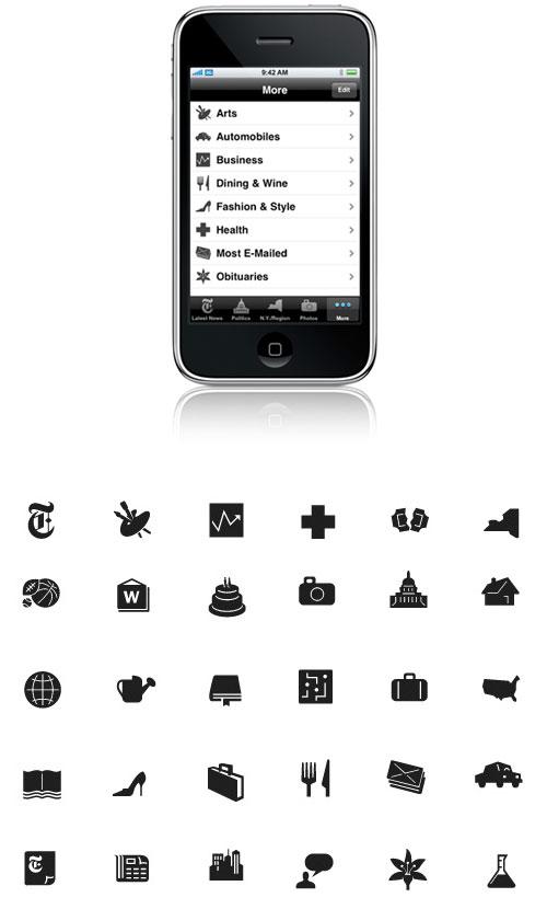 iPhone nytimes 图标设计过程  - gowebway - 狗尾巴