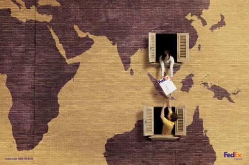 个人艺术照片欣赏_Fedex 创意广告设计——友邻 - 佳作欣赏 - 蓝色理想