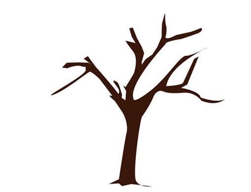 樹干黑白貼圖