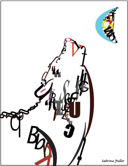 50幅动物主题字体设计作品