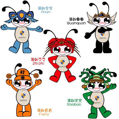 一个吉祥物和卡通形象完全代表不了支付宝的功能用途