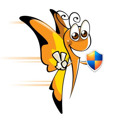 查看作者所有作品 / 作者资料 简介: 采用的是一只拟人化的小蝴蝶
